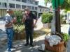Im Gespräch beim Götzner Markt.